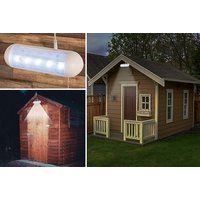 £6.99 instead of £25.00 (from Direct2Publik Ltd) for a solar powered LED shed light – save 72%. - Solar Powered Gifts
