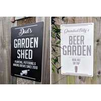 £8 instead of £39.99 (from Your Perfect Canvas) for a personalised garden sign - choose from four designs and save 80% - Garden Gifts