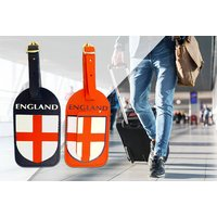 £2.99 instead of £9.99 (from London ExchainStore) for a pack of two England luggage tags - save 70% - England Gifts