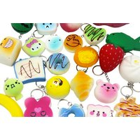 £9.99 instead of £19.99 (from GB Gifts) for a pack of ten soft squishies phone charms  - save 50% - Charms Gifts