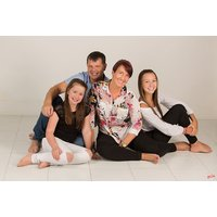 """£9 instead of £360 for a family photoshoot, one 8"""" x 10"""" print, two 5"""" x 7"""" prints, a £50 voucher towards any wall-hanging and a £50 voucher towards any portfolio or album from The Click Group - smile and save 98% - Family Gifts"""