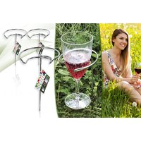 £3.99 instead of £19.99 for two outdoor wine glass holders or £6.99 for four glasses -  save up to 80%