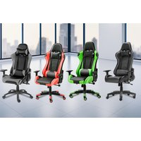£85 instead of £179 (from Product Mania) for a gaming chair with lumbar and neck support - save 53% - Gaming Chair Gifts