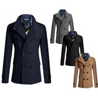 £24 for a men's slim fit military coat - choose from four colours from Bluebell Retail Ltd - Military Gifts