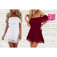 £9 for an off shoulder dress - choose from four colours from Bluebell Retail Ltd - Colours Gifts