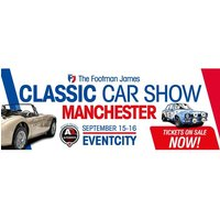 £7 instead of £12.50 for an adult ticket to The Footman James Classic Car Show in Manchester on 15th or 16th Sep 2018, £15 for a family ticket from AMR Events - save up to 44% - 16th Gifts