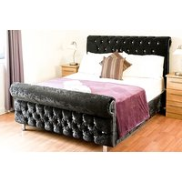From £199 (from Moonbeds) for a Windsor chesterfield crushed velvet sleigh bed - choose from seven colours and five sizes and  save up to 77% - Colours Gifts