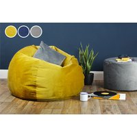 £59 (from GreatBeanBags) for a medium retro velvet beanbag, or £79 for a large beanbag, or £99 for an XL beanbag, or £110 for an XXL beanbag – choose from three colours! - Beanbag Gifts