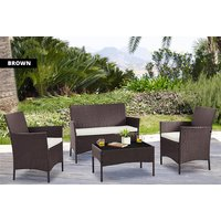 a fourpiece durable poly rattan set, £99 for a set with cover save up to 81%
