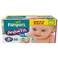 £9.99 for 88 Pampers active fit nappies size 3 from Ckent Ltd - Active Gifts
