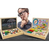 £8.99 instead of £29.99 for a doodle blackboard and wooden mathematics learning set from Ckent Ltd - save 70% - Learning Gifts