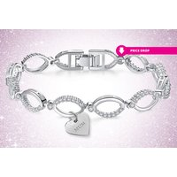 a multilink Mum bracelet made with crystals from Swarovski  save 88%