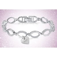 a multilink ' Mum ' bracelet made with crystals from Swarovski - save 88%
