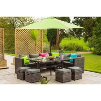 £569 instead of £970 (from Dreams Outdoors) for a 10-seater corner poly rattan sofa set with a limited number available for £469 - save up to 52% - Outdoors Gifts