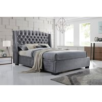 From £329 instead of £899 (from FTA Furnishing) for a grey velvet wingback double bed, or from £349 for a king bed - choose from