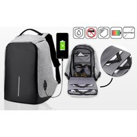 an 'antitheft' backpack with USB charging port