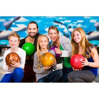 £14 for a game of bowling for up to four people with a soft drink each, or £19 for up to six people at Cosmic Bowl @ M&D's Theme Park, Motherwell - save up to 56% - Bowling Gifts