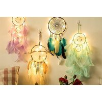 £7.99 instead of £27 (from Charles Oscar) for an LED light dreamcatcher in lilac, turquoise, mint green or brown – save 70% - Lilac Gifts