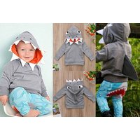 £6.99 instead of £39.99 (from WowWhatWho) for a kids shark hoodie - save 78% - Shark Gifts