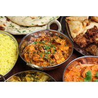 £13 for a £25 voucher for two people to spend on food and drink with poppadoms and dips on arrival at India Gate - save 56% - India Gifts