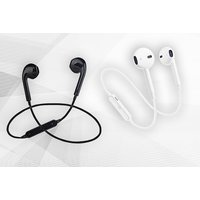 a pair of Applecompatible wireless Bluetooth headphones  get black or white pair!