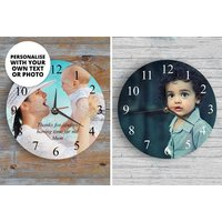£12.99 instead of £26.99 (from We Personalize) for a personalised wall clock - save 52%