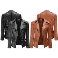 a faux leather biker jacket choose from two colours and save 75%