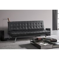 a faux leather sofa bed choose from two colours and save 83%