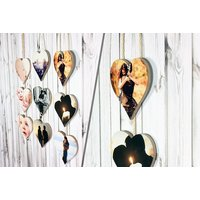 £8 instead of £39.99 (from Your Perfect Canvas) for a personalised set of hanging hearts - save 80%