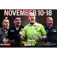 £12 instead of £29.25 for a ticket to the Grand Slam of Darts from 11th-15th Nov, £15 for a ticket on 16th or 18th Nov 2018 at Aldersley Leisure Village, Wolverhampton - save up to 59% - Darts Gifts