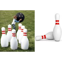 £9 instead of £29.99 for a seven-piece jumbo inflatable bowling set from Direct2Public Ltd - save 70% - Bowling Gifts