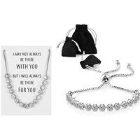 Get your special friend a beautiful gift this Christmas with a crystal friendship quote bracelet! - Friendship Gifts