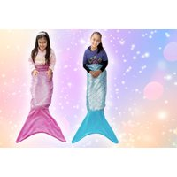 From £7.99 instead of £19 (from Craze UK) for a kid's sparkly mermaid blanket, and from £9.99 for an adult's mermaid blanket - save up to 58% - Sparkly Gifts