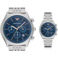 £109 instead of £389 (from Best Watch Company) for an Emporio Armani AR1974 stainless steel blue chronograph mens watch - save 72% - Armani Gifts
