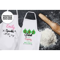 £8.99 instead of £24.99 for a personalised christmas apron - choose from four colours from Fab Deco Ltd - Deco Matters - save 64%