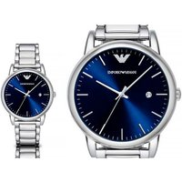 Time to get your man a new watch for Xmas with an Emporio Armani AR8033 mens blue dial watch! - Armani Gifts