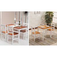 From £79 instead of £150 (from Dreams Outdoors) for a white and natural finish dining table set –save up to 47% - Outdoors Gifts
