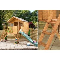 £249 instead of £326.99 (from Mercia Garden Products) for a Honeysuckle playhouse, £389 for a playhouse with tower or £479 with a playhouse with tower and slide - save up to 24% - Playhouse Gifts