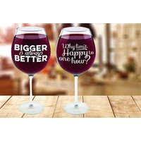 £8.99 instead of £29.99 (from Ugoagogo) for a large quirky wine glass – choose from four designs and save 70% - Quirky Gifts