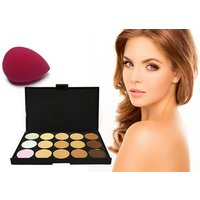 bc86d53af2e a 15-shade contouring concealer palette and blender beauty sponge from  Forever Cosmetics - save 76%