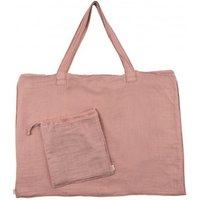 Cotton shopping bag and envelope - Old Rose