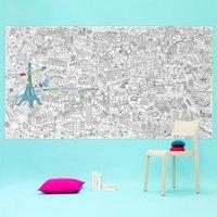 Paris Giant Colouring Poster