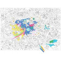 Giant Outer Space Colouring-in Poster