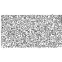 Keith Haring Giant Colouring Poster