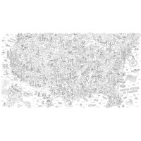 USA Giant Colouring-in Poster