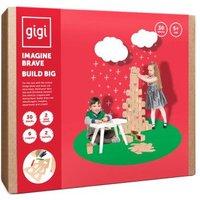 Jeu de construction en carton Conte de fees pour Noel avec crayons de couleur - Set de 30 blocs Natu