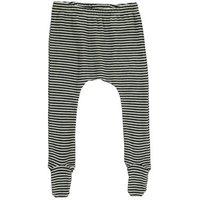 Stripe Ribbed Organic Merino Wool Trousers with Feet