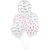 Ballons imprimes Bisou - Lot de 5 Multicoloured