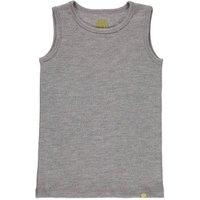Ribbed Organic Merino Wool Vest Grey