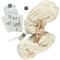 White Lucette DIY Knitting Kit